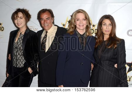 LOS ANGELES - OCT 25:  Lauren Koslow, Thaao Penghlis, Deidre Hall, Kristian Alfonso at the Hollywood Walk of Fame Honors at Taglyan Complex on October 25, 2016 in Los Angeles, CA