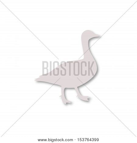 The silhouette of a goose icon on white background