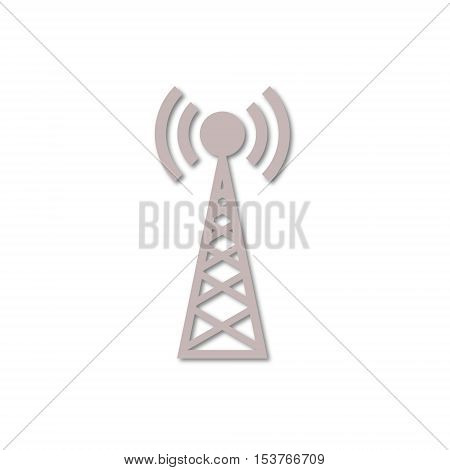 Transmitter simple icon on white background vector