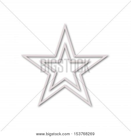 Vector Double stars icon on white background