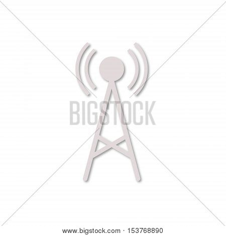 Simple Transmitter simple icon on white background