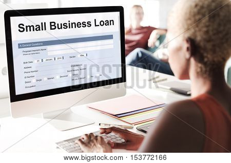 Small Business Loan Form Concept
