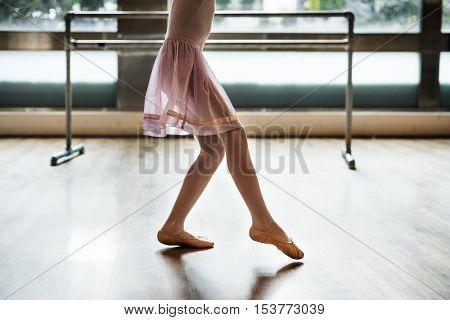 Ballerina Dancing Ballet School Concept