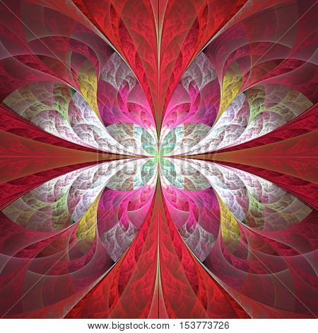 Abstract fractal background in red and pink colors computer generated image