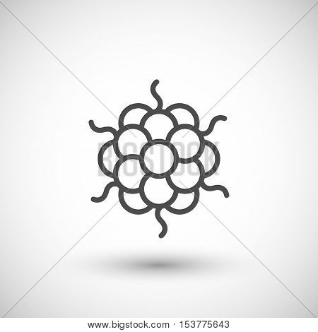Microbe line icon isolated on grey. Vector illustration