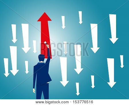 Businessman Leadership Concept. Concept Business Illustration. Vector Flat