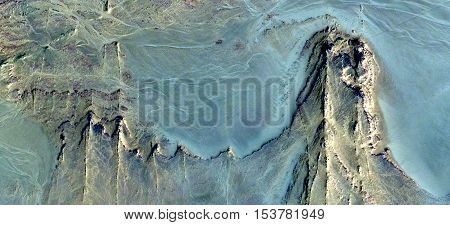 Abstract photography of landscapes of deserts of Africa from the air, wind effects,