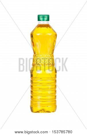 Bottle of Palm kernel Cooking Oil isolated on white background
