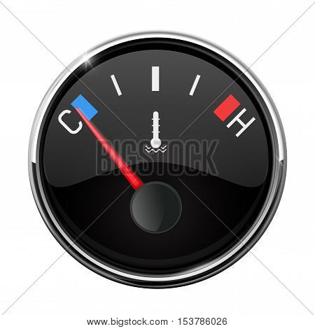 Car temperature gauge. Thermometer. Vector illustration isolated on white background