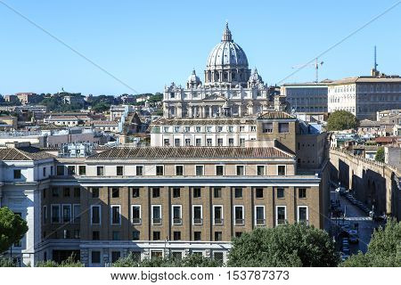 ITALY, ROME, OCTOBER, 23, 2014 - Papal Basilica of Saint Peter in the Vatican.Saint Peter's Basilica, the world's largest church, is the center of Christianity.