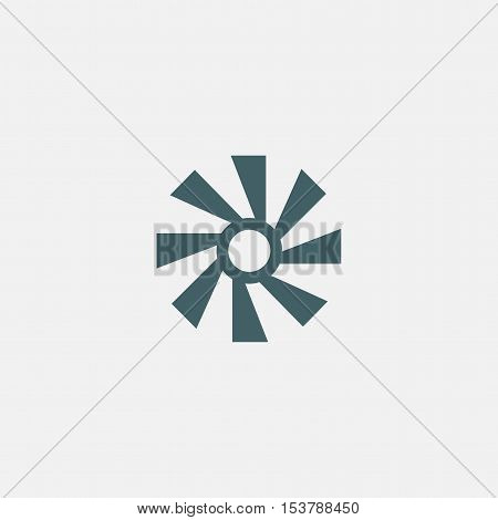 fan vector icon isolated on white background. sun icon.