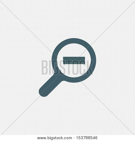 search vector icon isolated on white background. magnifier decrease icon. magnifying glass zoom out icon