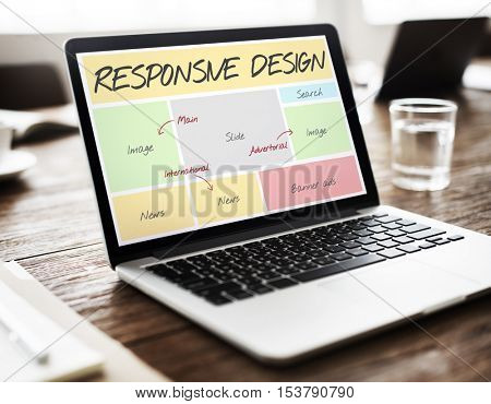 Responsive Design Layout Software Concept