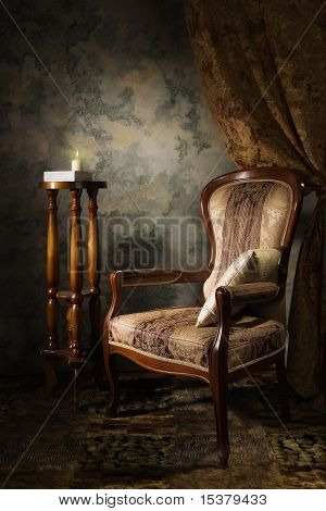 Luxurious Vintage Interior With Armchair