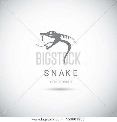 vector snake simple black logo design element. danger snake icon. viper symbol