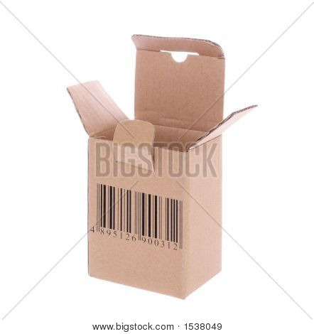 Cardboard Box With Barcode