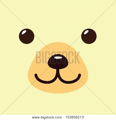 Bear Kawaii Cartoon Cute Icon - Bear Animal Character Kawaii Flat Isolated Design Vector Illustration Stock