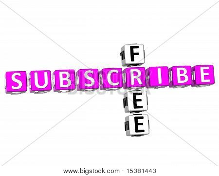Subscribe Free Crossword