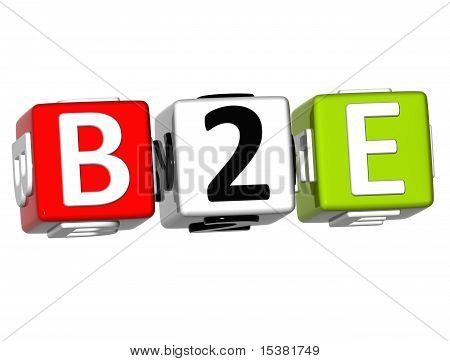 Business To Employee Cube Word