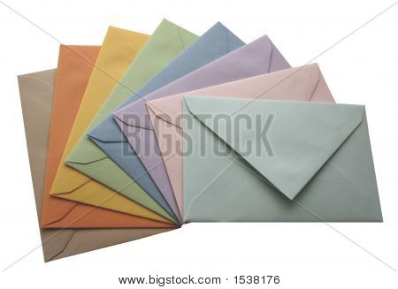 Envelopes coloridos