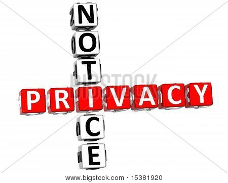 Privacy Notice Crossword