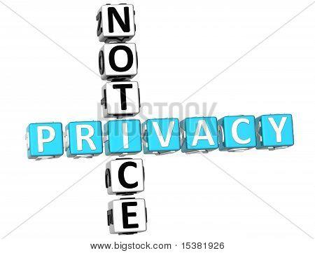 Privacy Notice Crossword