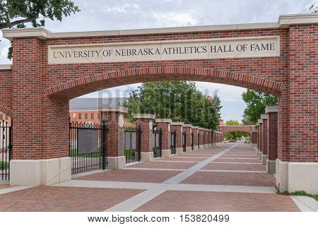 University Of Nebraska Athletics Hall Of Fame Walkway