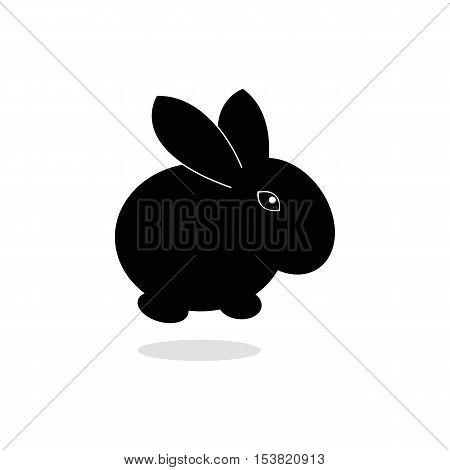 rabbit Icon,rabbit silhouettes on the white background