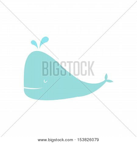 whale,Baby Shower design. Invitation concep. Colorful illustration