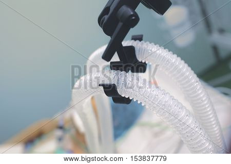 Life support of terminal patient in ICU.