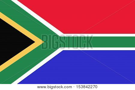 Stock Vector Flag of South African Republic - Proper Dimensions