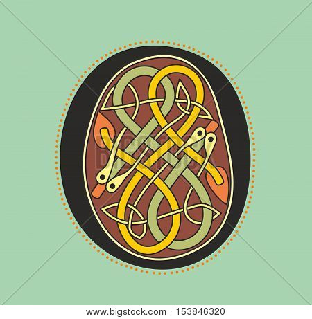 Celtic Initial Letter O With Serpentine Knot