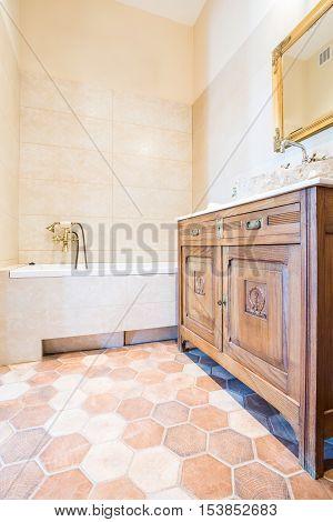 Old-fashioned Domestic Bathroom