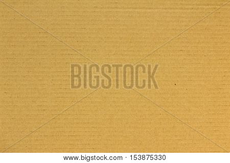 Closed up brown corrugated cardboard paper texture background