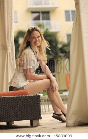 Blond At Cabana