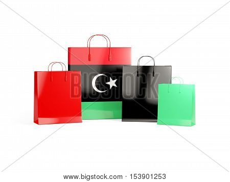 Flag Of Libya On Shopping Bags
