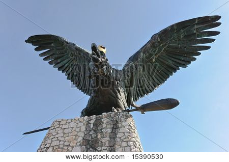 Turul Statue Of Tatabanya
