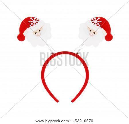 Santa headband isolated on white background. 2 santa