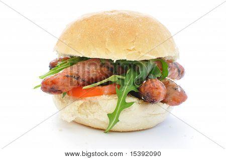 Sausage Sandwich On White