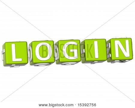 Login Cube Text