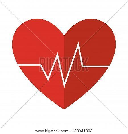 heart with cardio pulse vector illustration design