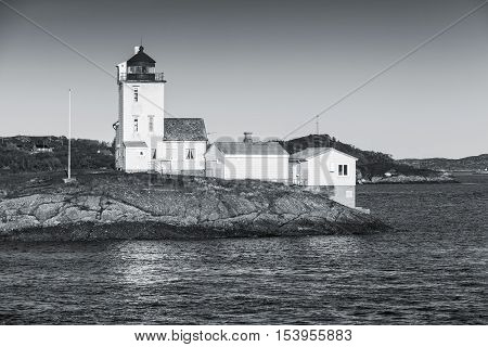 Coastal Lighthouse Located In Smola, Norway