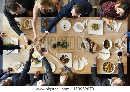 Food Catering Cuisine Culinary Gourmet Party Cheers Concept