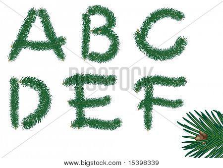 Navidad piel ABC (A-f). Vector