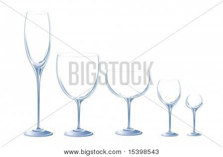 Cristal glasses. Vector