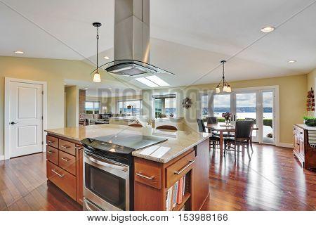 Luxury House Interior With Modern Kitchen