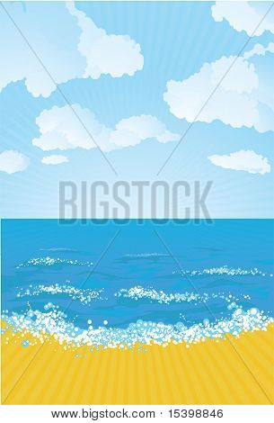The beach. Vector