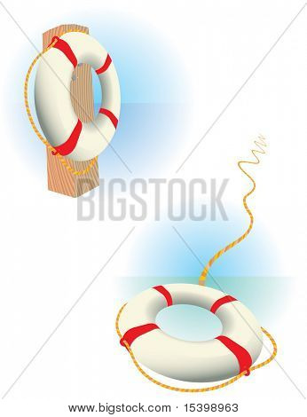 Safe-bouy. Vector.