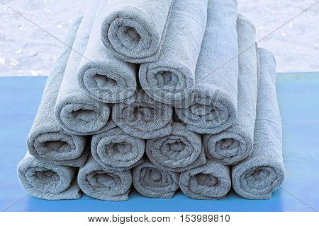 beach towels rolled up in rolls towels and body care