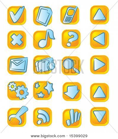 Computer icons. Vector. Easy to chande color.